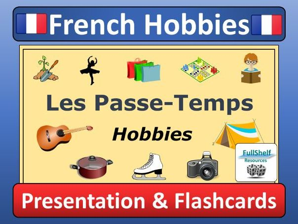 graphic relating to Printable French Flashcards referred to as French Hobbies Presentation (Les Pe-Temps)