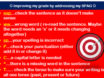 Self and Peer Assessment SPAG Check_2018