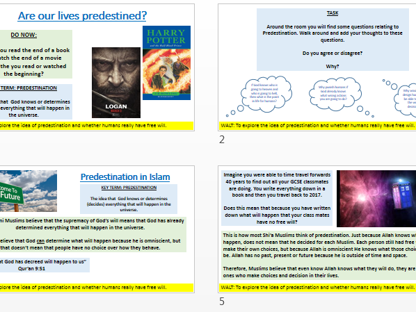 AQA New Specification A: Predestination in Islam