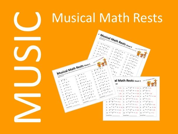 Musical Math Rests - Music Distance Learning