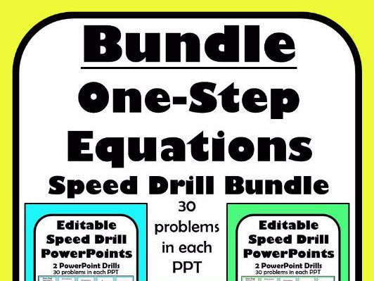 One Step Equations Fluency Editable Product 8 PowerPoints