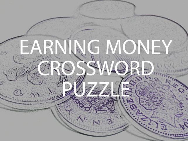 Earning Money Crossword Puzzle