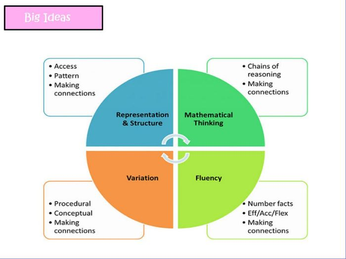 Fluency and the 5 big ideas of Mastery CPD