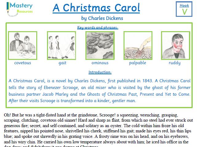 A Christmas Carol by Charles Dickens Comprehension KS2