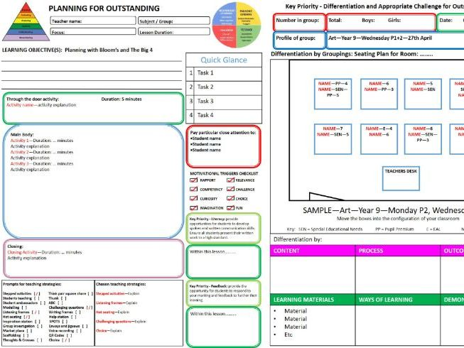 Outstanding Lesson Plan Template - Publisher Version