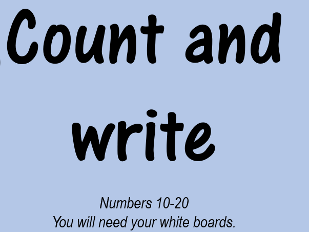 Interactive power point - Count and write numbers to 20