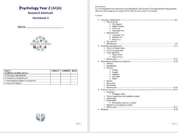 Research Methods 7 Student Workbook