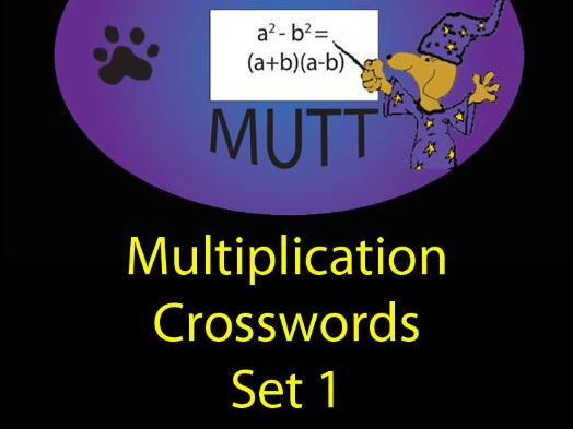 Pooch Puzzles: Multiplication Crosswords Set 1