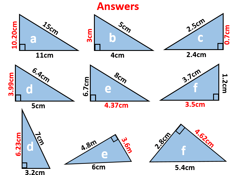 Pythagoras Lesson With ANSWERS