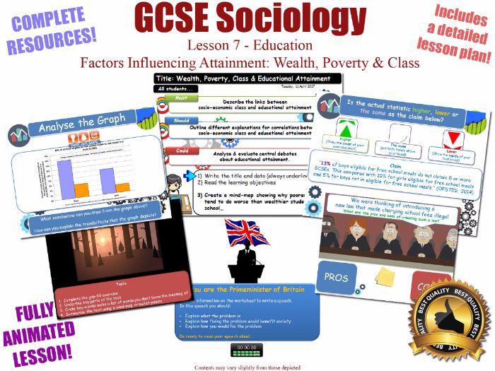 Educational Achievement (1) - Poverty, Wealth & Class- Education L7/20[ WJEC EDUQAS GCSE Sociology ]