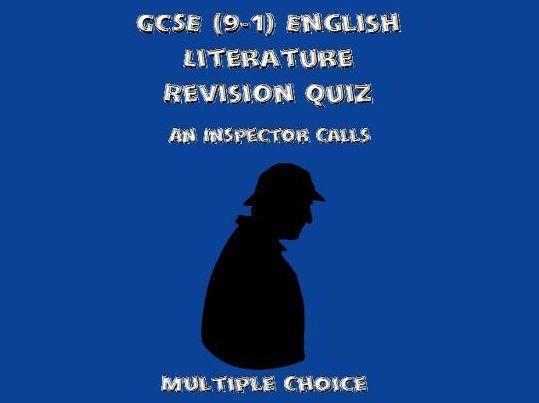 GCSE English Literature Revision Quiz: An Inspector Calls