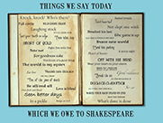 Shakespear quotes a3 size display poster