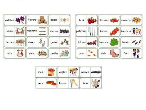 Plural forms domino