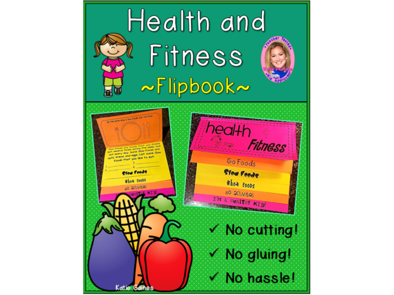 Health and Fitness DOUBLE-SIDED Flipbook!