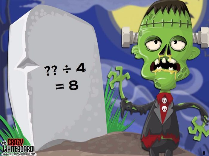 Zombie Attack Multiplication and Division Problems