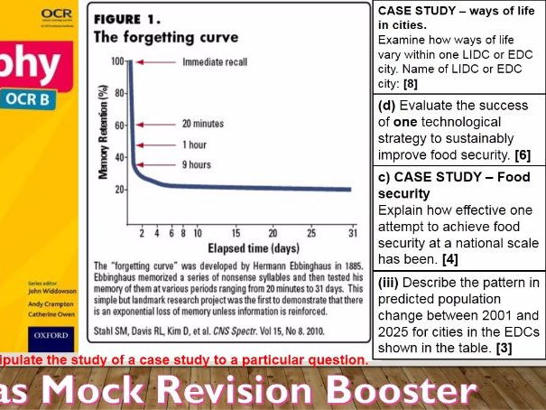 2017-2018 Year 11 OCR B Revision 4) Christmas Mock Booster for OCR B Specimen Paper WITH ANSWERS