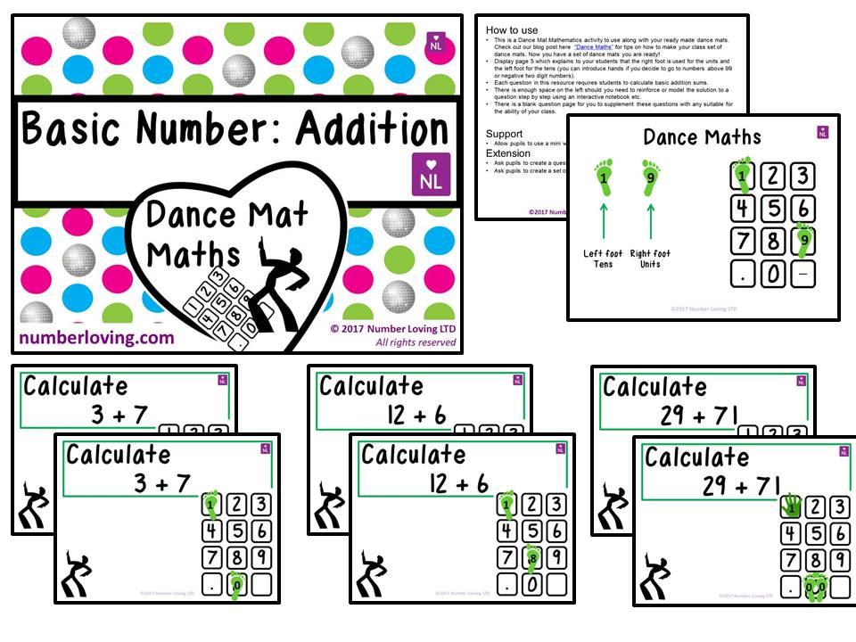 Basic Addition (Dance Mat)