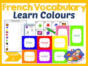 French colours - Vocabulary Picture Resource - les couleurs - French immersion!