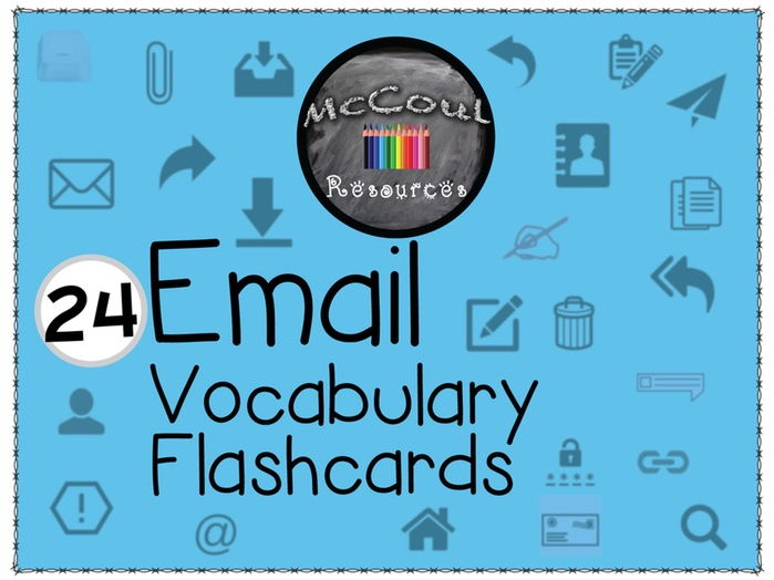 24 E-mail Vocabulary Flashcards