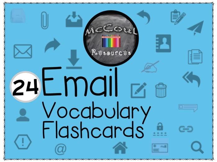 24 E-mail Vocabulary Flashcards