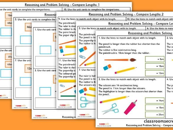 Year 2 Compare Lengths Spring Block 5 Reasoning and Problem Solving Pack