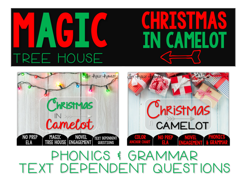 Christmas in Camelot NO PREP Text Dependent Questions BUNDLE