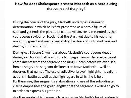 AQA Macbeth revision pack