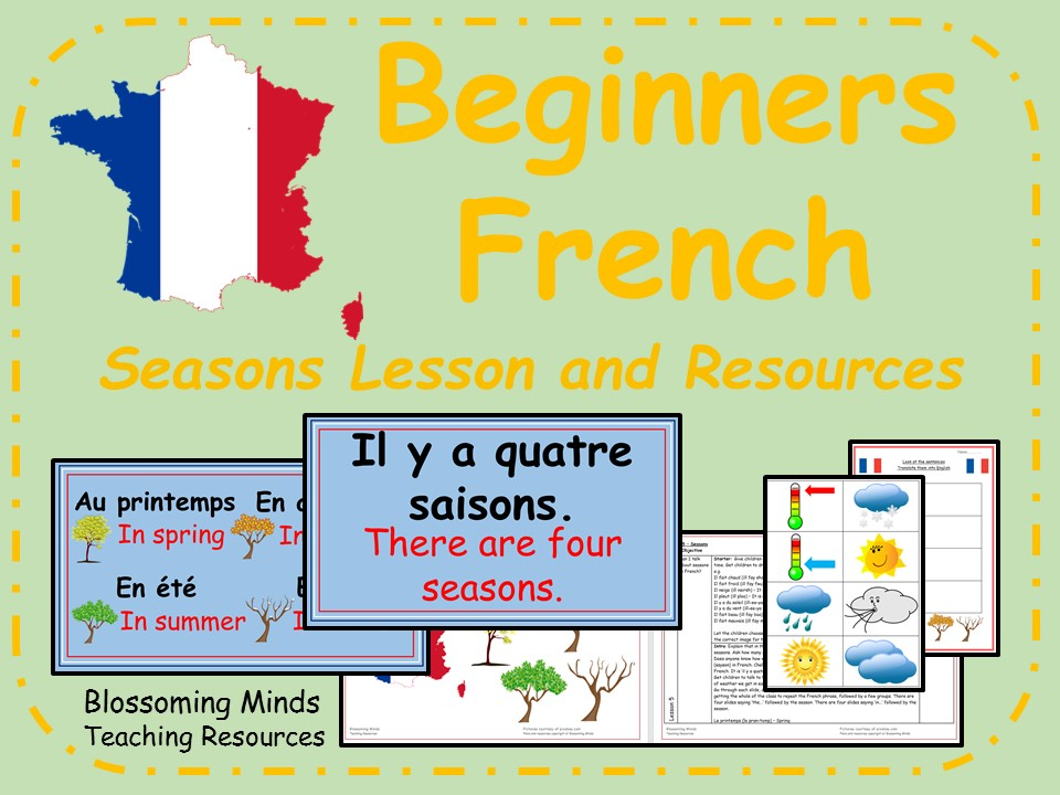 French lesson and resources - KS2 - Seasons
