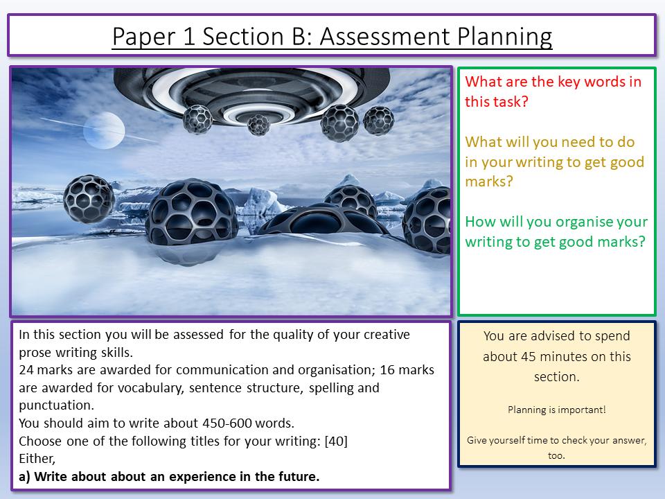 Eduqas Creative Prose Planning