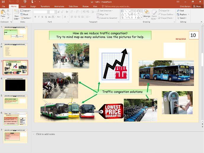 L2 - Reducing traffic congestion - (Sustainable urban development) - [AQA GCSE Geography new spec]