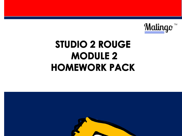 Studio 2 rouge module homework booklet