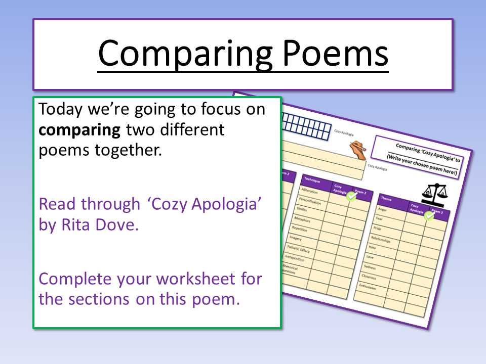 Eduqas Comparing Poems