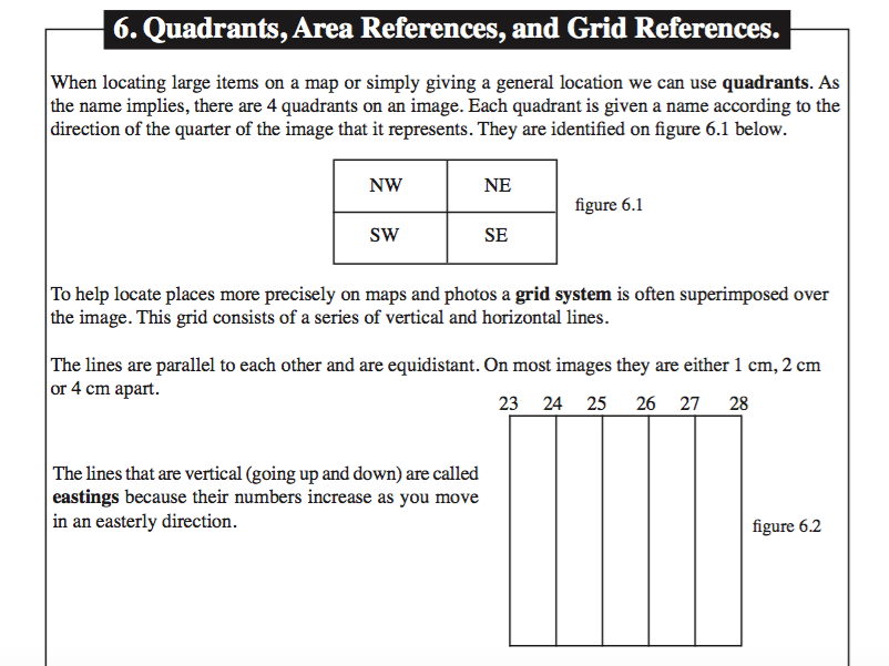 Area & Grid Reference (4 + 6 Figure)
