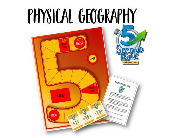 Physical Geography 5 second rule game AQA specification