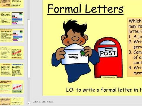 Formal Letter Writing for GCSE