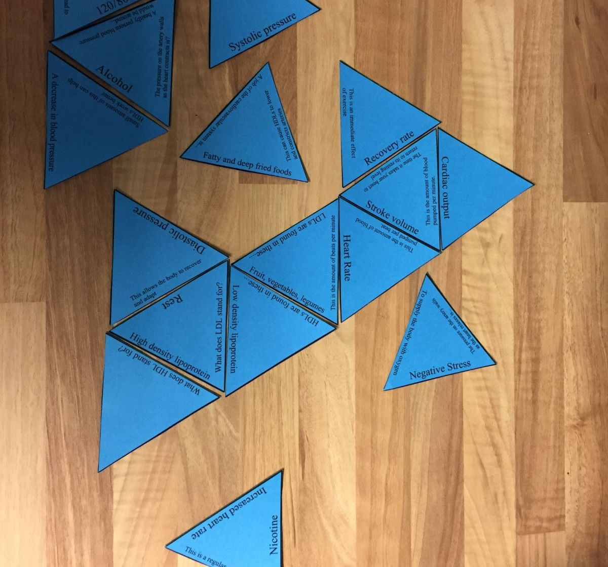 GCSE PE Edexcel 9-1 PAPER 2 Tarsia Triangle Puzzle set