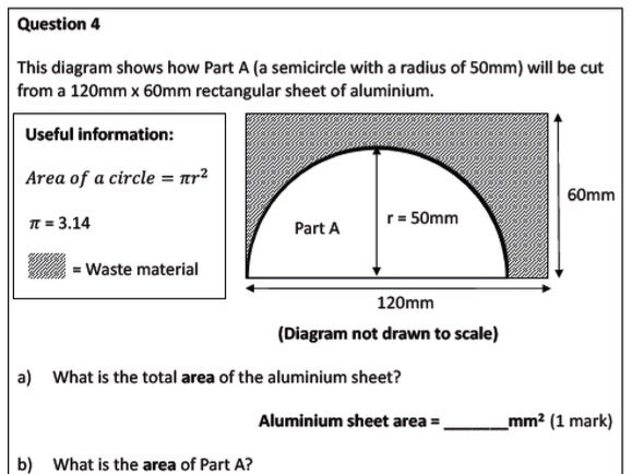 Numeracy for GCSE 9-1 Design & Technology (Question Papers and Mark Schemes)