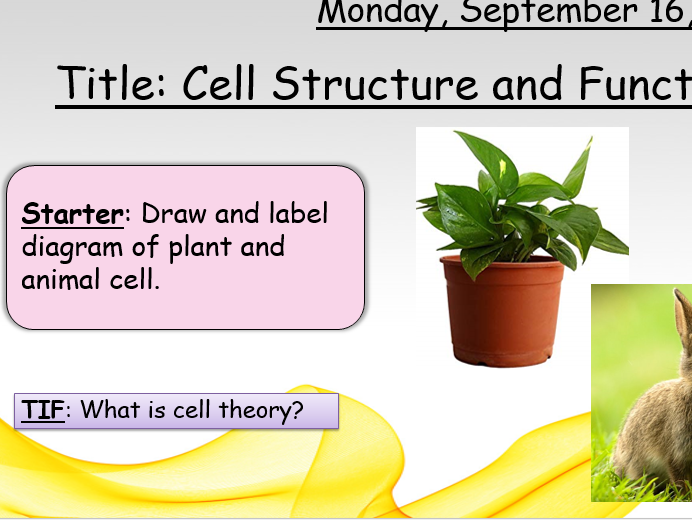 BTEC Applied Science 2016 Unit 1 Biology B1 Cell Structure and Function