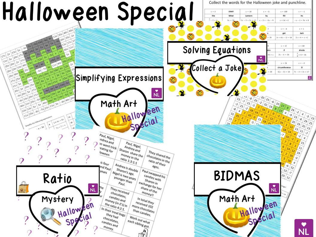 BIDMAS Maths Art Halloween Special by NumberLoving - Teaching ...