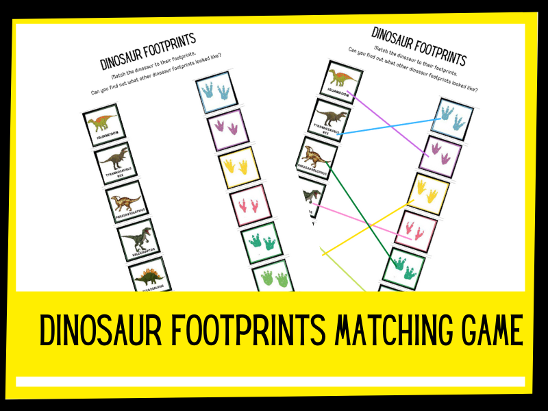 Dinosaur footprint matching game