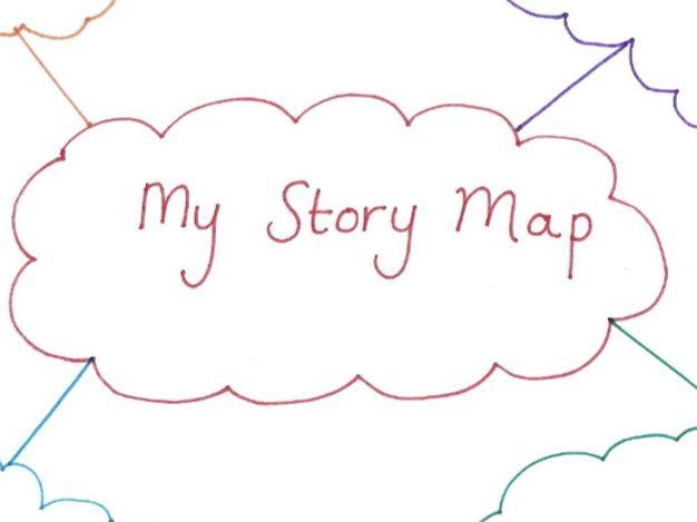 Coloured Cloud Story Map KS1 and KS2