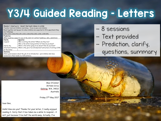 Y3/4 Guided Reading Letters - 8 sessions