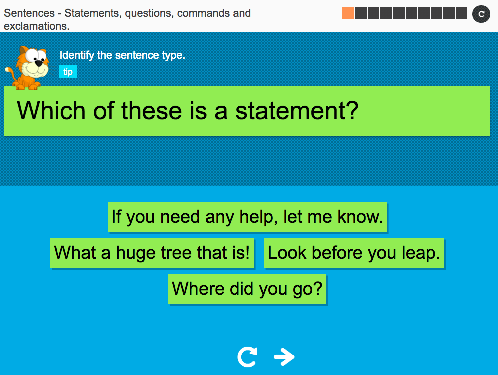 Statements, questions, commands and exclamations - Interactive Activity - KS3 Spag