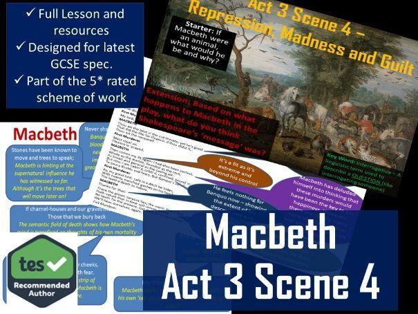 Act 3 Scene 4 Macbeth GCSE English Literature 9-1