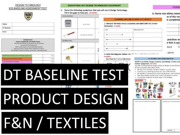 DESIGN TECHNOLOGY BASELINE TEST KS3