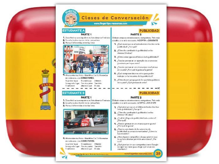 Publicidad - Spanish Speaking Activity