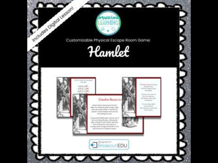 Customizable Hamlet Escape Room / Breakout Game w/Digital Lesson