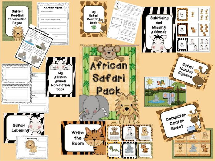 African Safari Literacy and Numeracy Pack