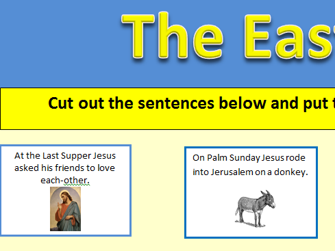KS1 & 2 Easter story sequencing activity