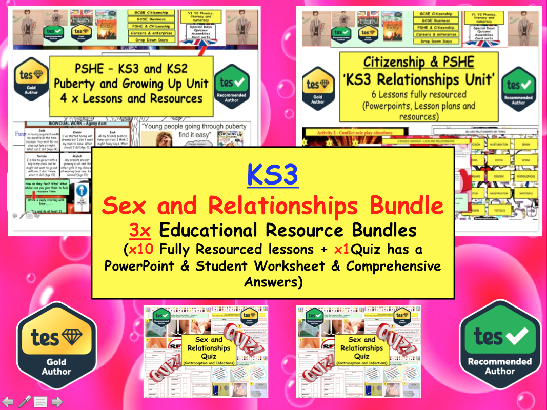 KS3 Sexual Health: Puberty and Growing up bundle